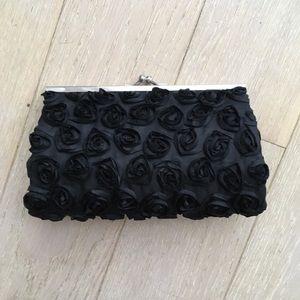 🔥BOGO BNWT Black Rose Clutch